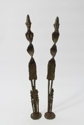 Couple Dogon bronze ancien